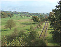 SJ9453 : Grazing Land and Disused Railway, Denford, Staffordshire by Roger  Kidd