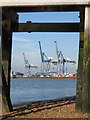 TM2832 : Old jetty, new cranes by Zorba the Geek