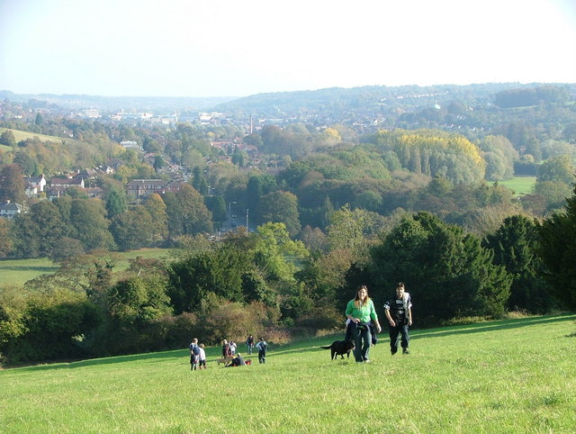 View towards High Wycombe from West Wycombe hill