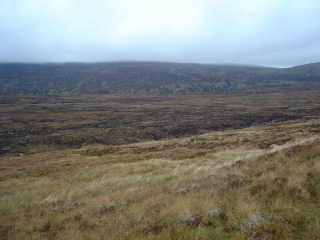 Looking northwest from the western slopes of Meallan Dubh
