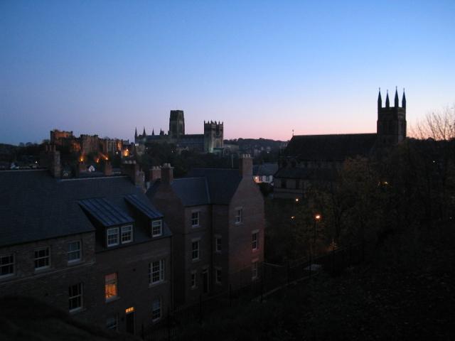 Durham at dusk
