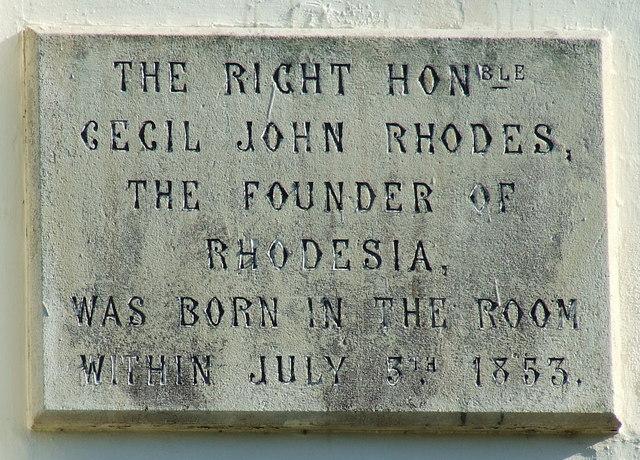 Cecil Rhodes Plaque