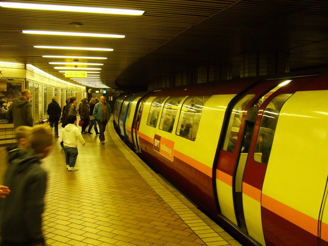 Underground train at Partick