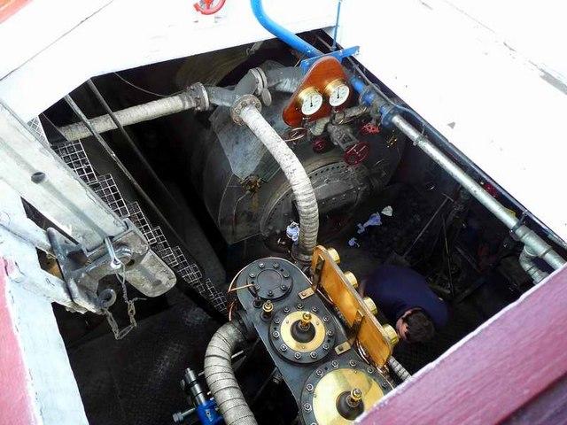 Steam power on the Sir Walter Scott
