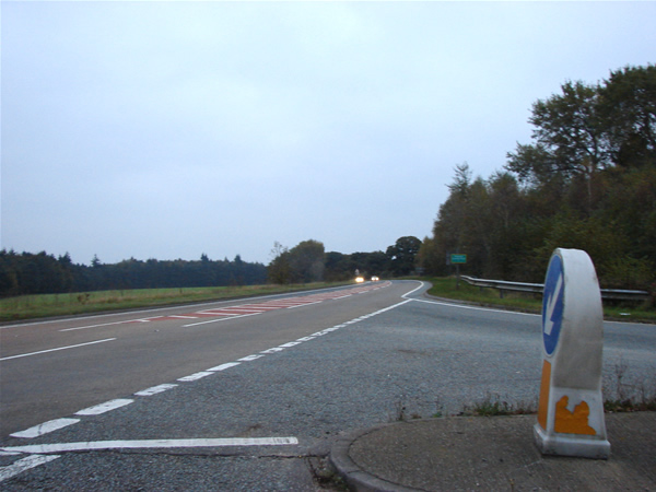 Road junction on the Narborough by-pass.
