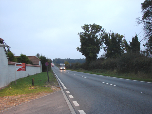 A47 between Narborough and Swaffham