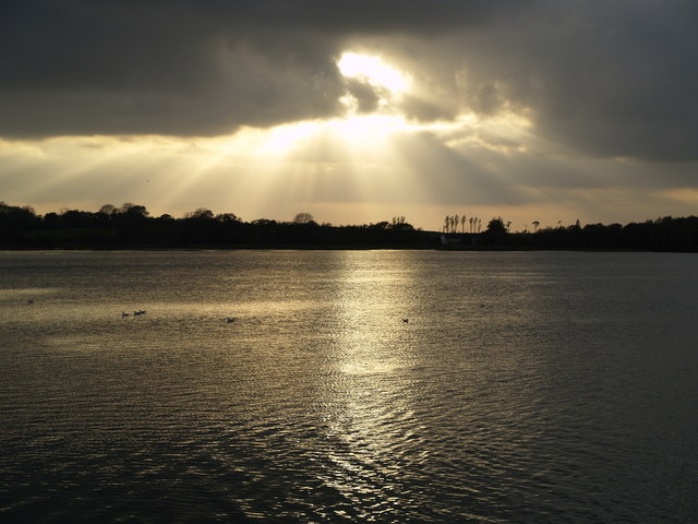 Sunset over Lough Aderry