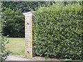 SU6784 : Gate pillar on Cox's Lane by Graham Horn