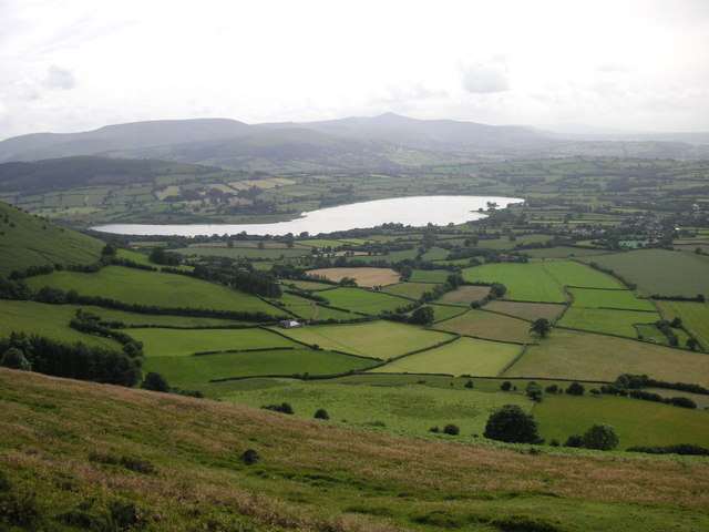 Llyn Llangors and the Brecon Beacons