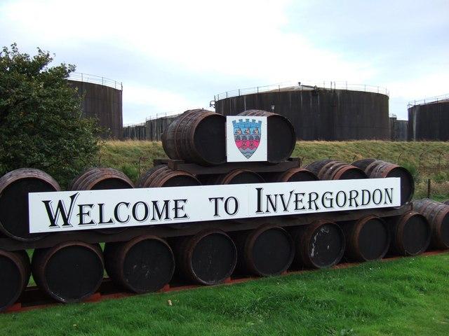 Invergordon Welcome Sign