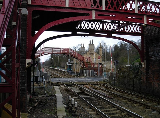 Wylam - Westbound station buildings