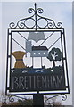 TL9654 : Brettenham village sign by Andrew Hill