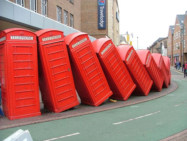 A dozen phoneboxes and not one working!
