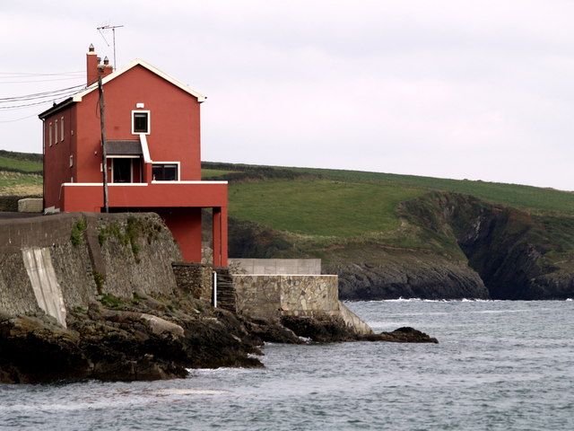 A seawall house at Sandy Cove