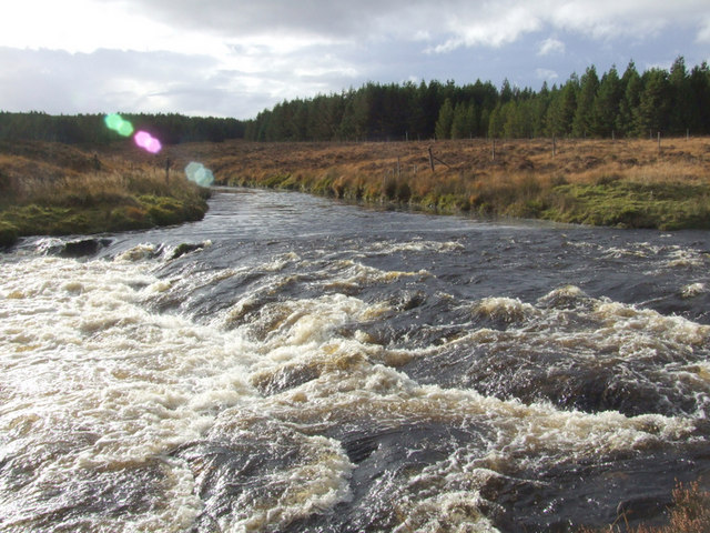 The Allt Eileag joins the Oykel