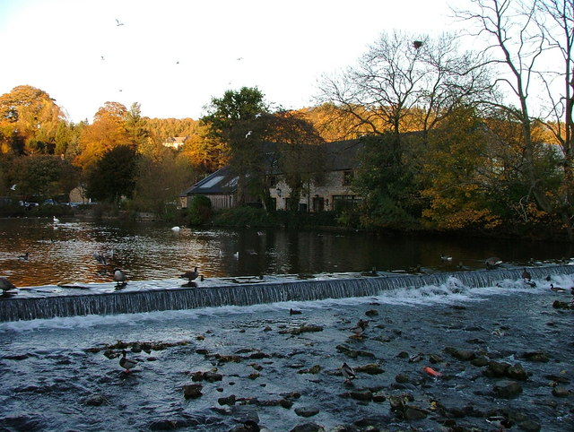 Weir on the river Wye - Bakewell