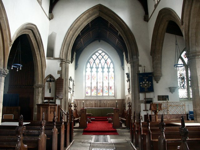 Interior of St John the Baptist, St Michael & All Angels, Stanground