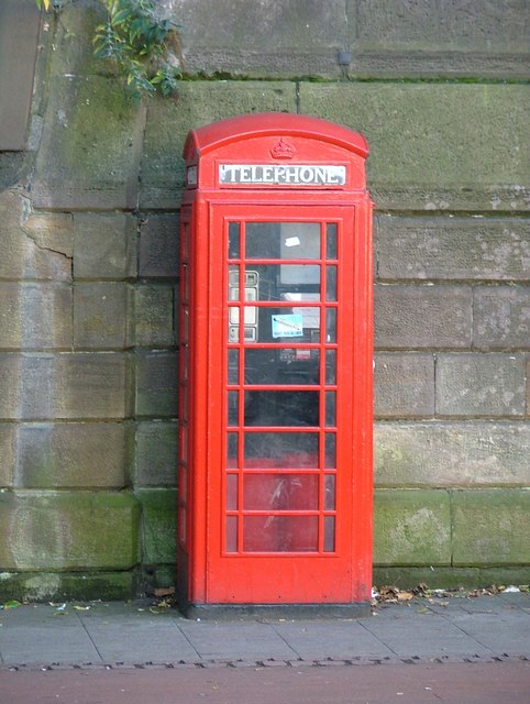 Red telephone kiosk - Friar Gate, Derby