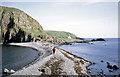 NG4197 : Storm beach connecting Garbh Eilean and Eilean an Tigh by Dr Julian Paren