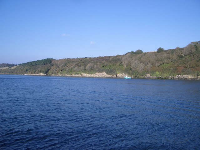 The Coastline to the East of the Carrick Roads in the Falmouth Estuary