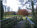 SP2872 : Footbridge, Abbey Fields by E Gammie