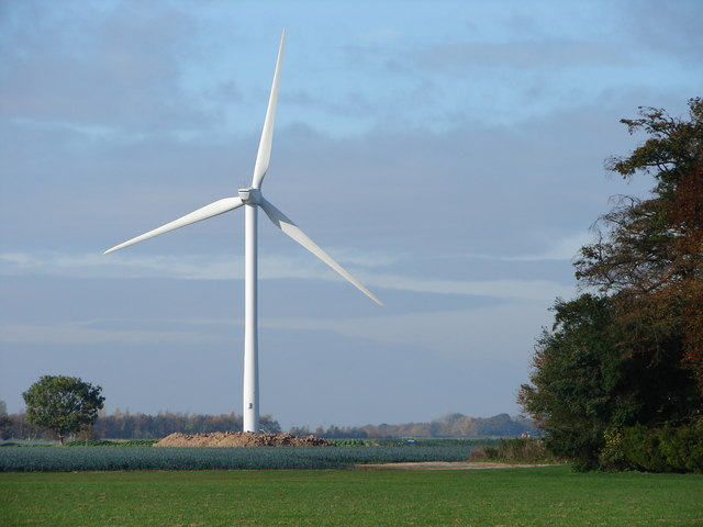 Wind Turbine on Gedney Marsh Wind Farm