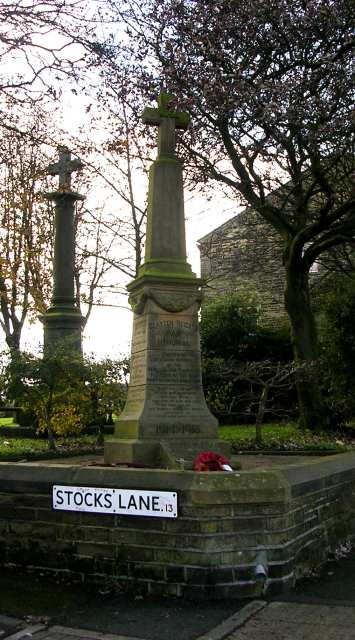 War Memorial - Graveyard of Clayton Heights Methodist Church