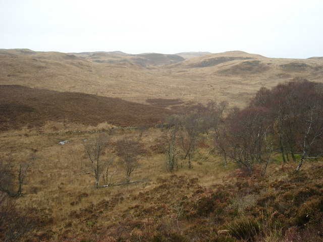 Looking north from the slopes of Deadh Choimhead