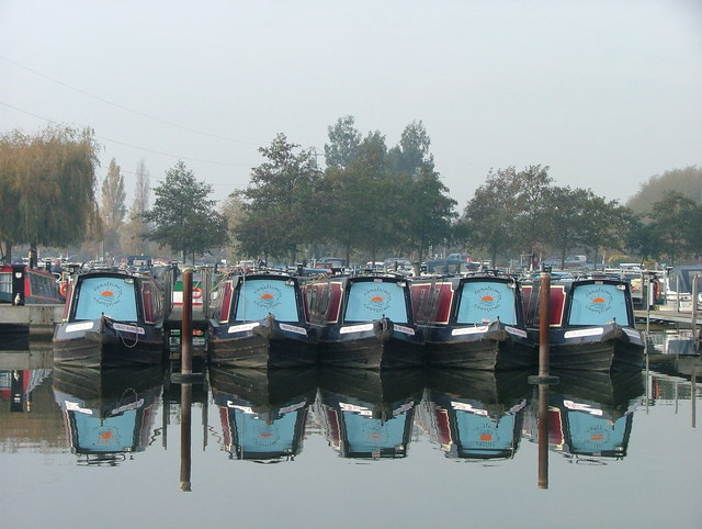 Canal boats at Sawley Marina