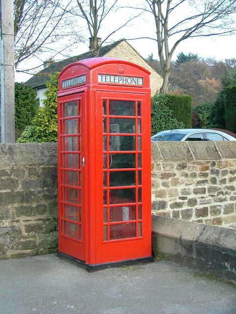 Red telephone box at Hathersage