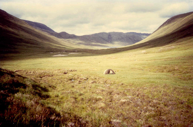 Solitary camp in Glen Orrin