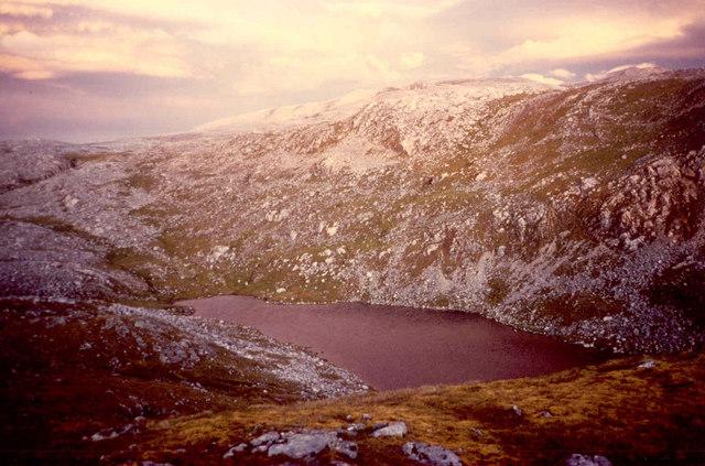 Sunset at Loch nan Caorach