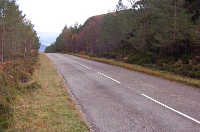 The A832 by Loch Maree