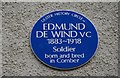 Photo of Edmund De Wind blue plaque