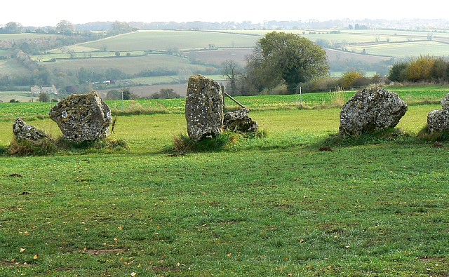 The Rollright Stones, Oxfordshire | An aerial view of the ... |Rollright Stones Oxfordshire