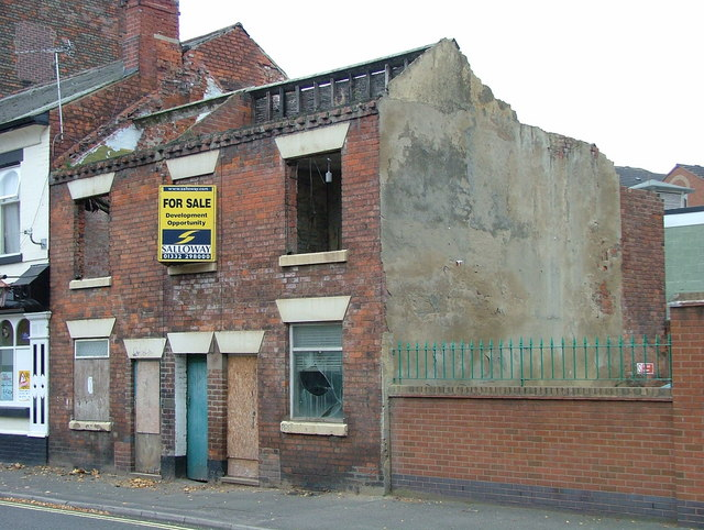 Derelict buildings - Brook Street, Derby