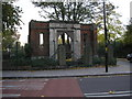 This archway stands on the south side of Stepney Green near the bottom. Perhaps it was the entrance to the Red Coat School, which stood near to here.