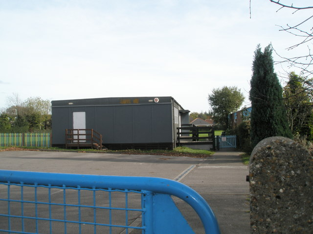 Temporary classroom at Park Gate Primary School