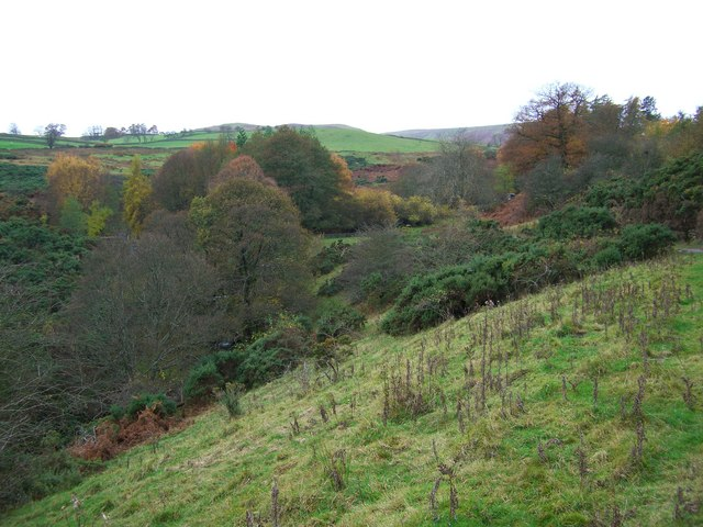 The valley above The Howes