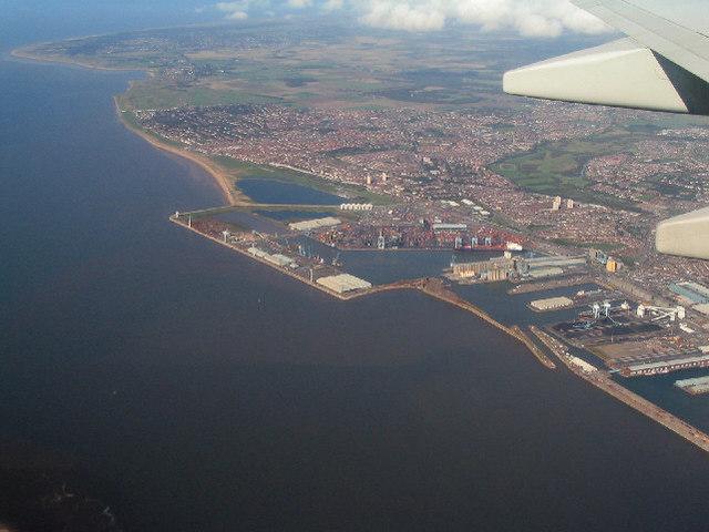 Aerial photo of Seaforth Docks