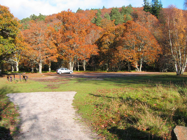 The Old Deeside Line car park at Ballater