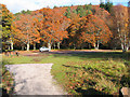 NO3695 : The Old Deeside Line car park at Ballater by Alan Findlay