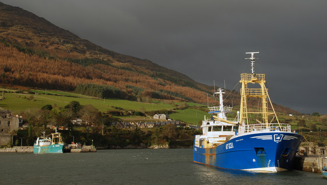 Carlingford Mountain and harbour