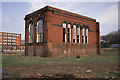 SD9409 : Wreck of the Dee Mill engine house by Chris Allen