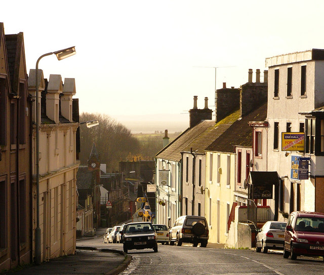 Glenluce - looking down the Main Street