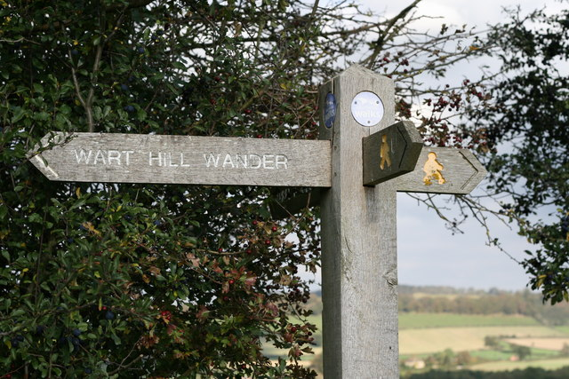 Sign Post on the Three Woods Walk, Shropshire