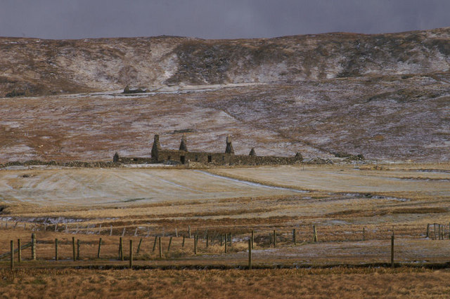 Ruined croft at the Westing