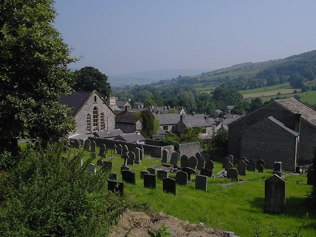 Bradwell - Methodist Chapel and gravestones