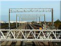 ST5179 : Gantries, St Andrew's Road station, Avonmouth by Brian Robert Marshall
