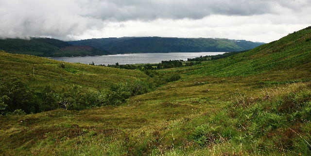 View towards Loch Carron from above Tullich